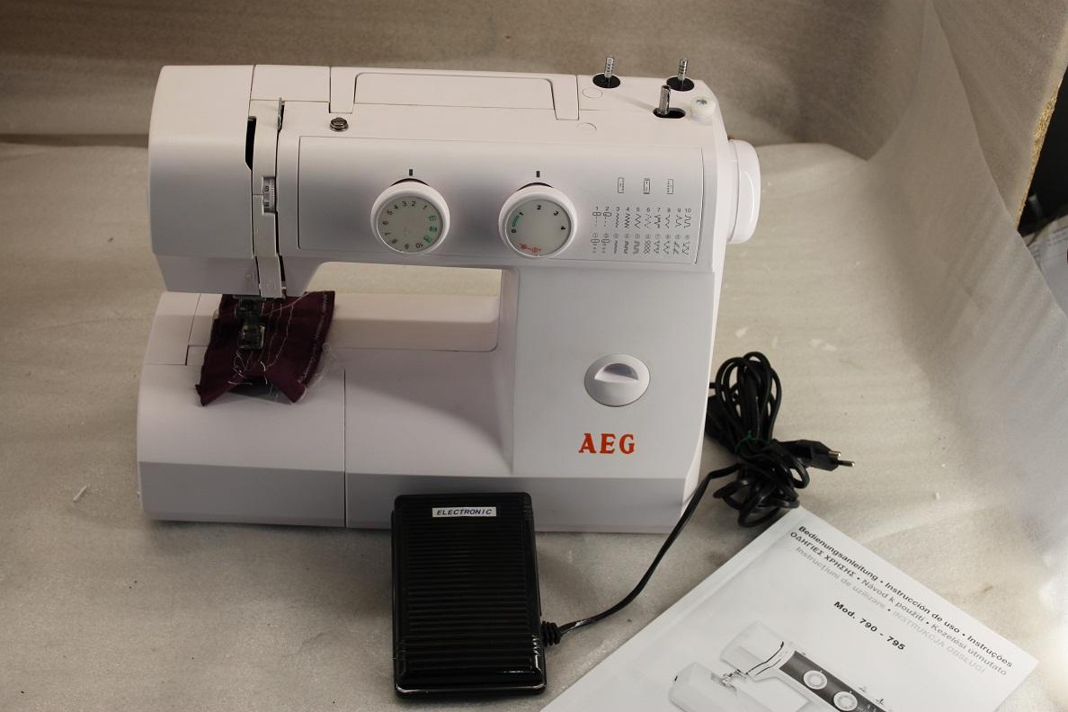 AEG Nähmaschine AEG 790 mit 23 Nähprogrammen Freiarm  ~ Nähmaschine Aeg