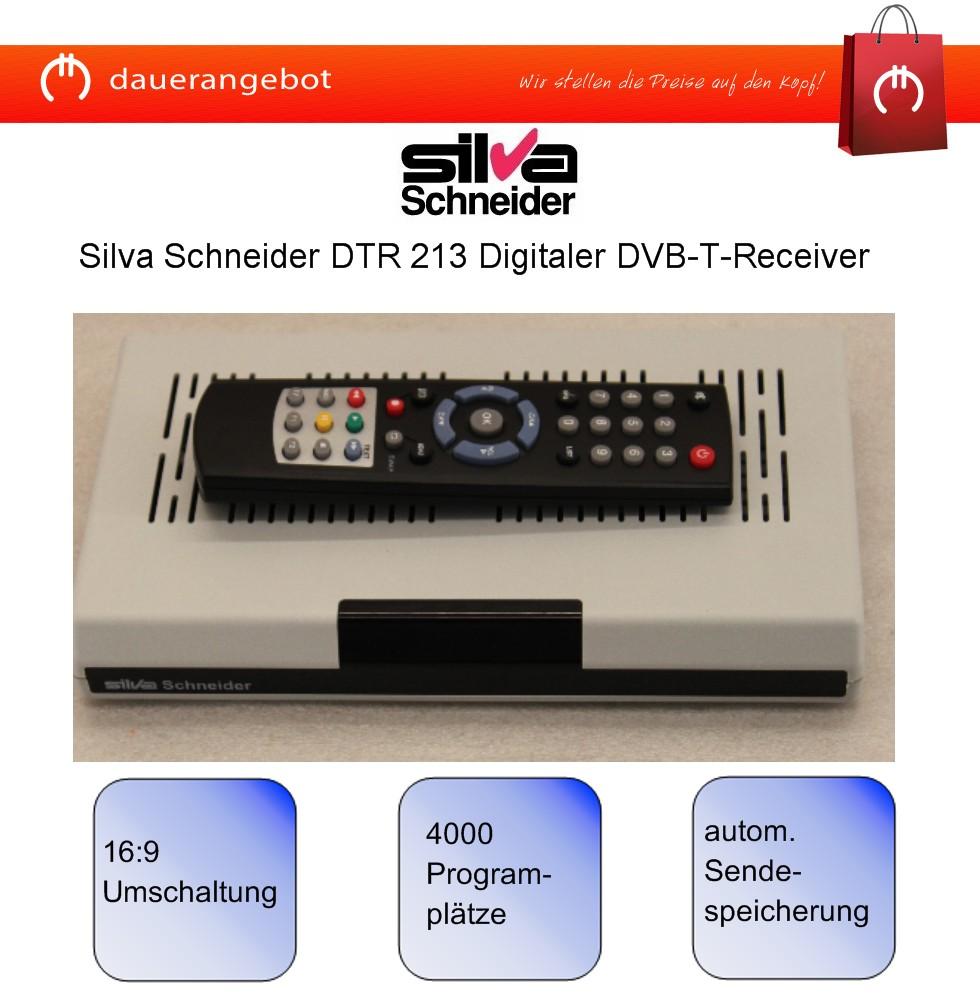 digitaler dvb t receiver 2 x scart 4000 programme timer silva schneider dtr213 ebay. Black Bedroom Furniture Sets. Home Design Ideas