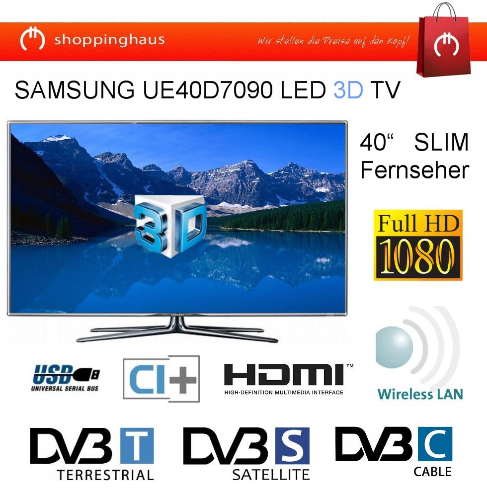 samsung series 7 ue40d7090 101 6 cm 40 zoll 3d 1080p hd led lcd internet tv ebay. Black Bedroom Furniture Sets. Home Design Ideas